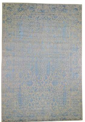 "Blue Area Charlton Home One-of-a-Kind Rosalyn Broken Cypress Tree Thick Hand-Knotted 9'9"" x 14'2"" Wool/Silk Rug Charlton Home"