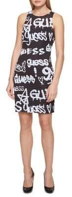 GUESS Printed Sheath Dress
