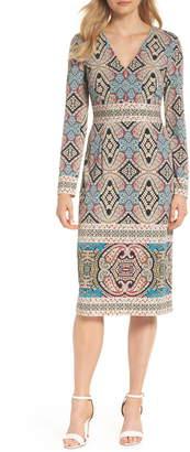 Maggy London Print Matte Jersey Sheath Dress
