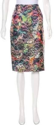 Zac Posen Printed Knee-Length Skirt w/ Tags
