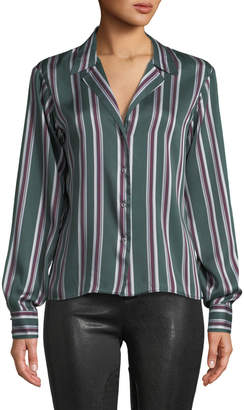 Alexis Samwell Striped Button-Front Top