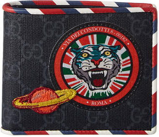 Gucci Night Courier Gg Supreme Canvas Bifold Wallet