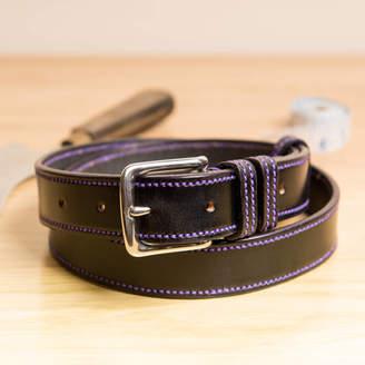 TBM - The Belt Makers Vibe2 Handstitched Border English Leather Belt