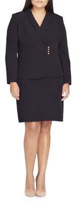 Tahari Arthur S. Levine Sunray Shawl Collar Jacket and Skirt Suit