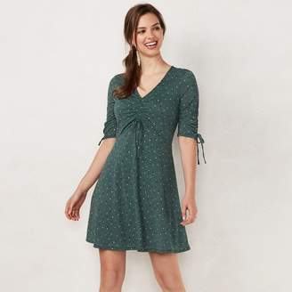 Lauren Conrad Women's Print Fit & Flare Dress
