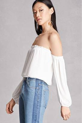 FOREVER 21+ Lush Off-the-Shoulder Top $38 thestylecure.com