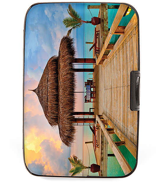 Tropical Hut Armored Wallet