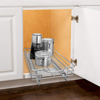 Lynk Roll Out Cabinet Organizer - Pull Out Drawer - Under Cabinet Sliding Shelf - 11 inch wide x 18 inch deep - Chrome
