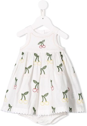 Stella McCartney Embroidered cherry dress