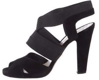 50c3eb3050d Prada Black Suede Straps Women s Sandals - ShopStyle