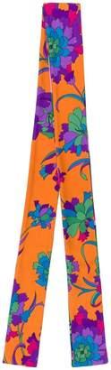 La DoubleJ floral print skinny scarf