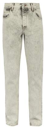 Martine Rose Bleach Washed Straight Leg Jeans - Mens - Grey