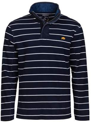 RAGING BULL Raging Bull - Navy Contrast Stripe 1/4 Zip Sweater