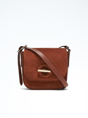 Suede Toggle Saddle Bag $118 thestylecure.com