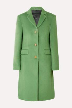 Acne Studios Onita Brushed Alpaca And Wool-blend Coat - Green