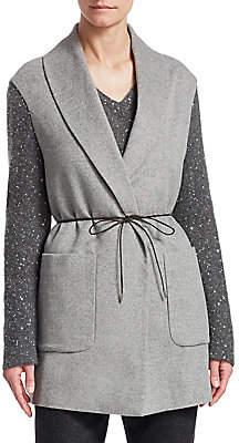 Fabiana Filippi Women's Belted Cashmere Sequin Jacket