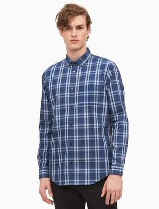 Calvin Klein classic fit infinite cool non-iron window plaid shirt