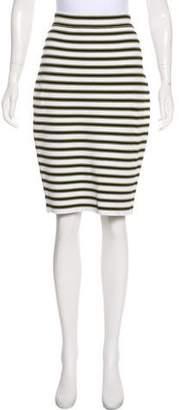 A.L.C. Striped Knit Pencil Skirt