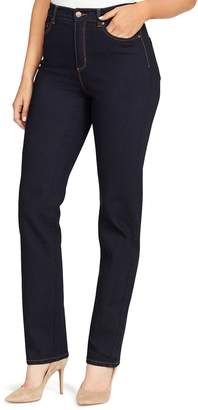 Gloria Vanderbilt Women's Amanda Embellished High-Waisted Tapered Jeans