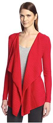 Society New York Women's Cable Cascade Cardigan