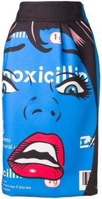 Moschino cartoon print skirt