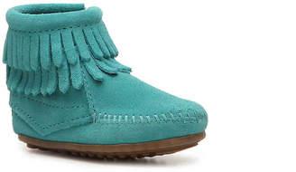 Minnetonka Double Fringe Infant & Toddler Boot - Girl's