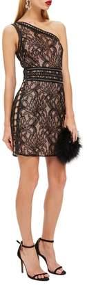 Topshop One-Shoulder Lace Body-Con Dress