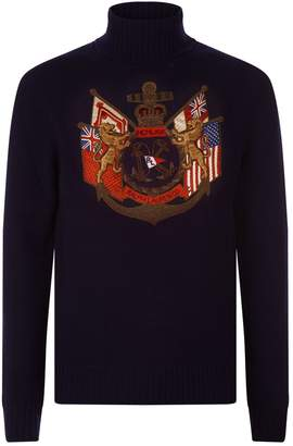 Ralph Lauren Purple Label Embroidered Sweater