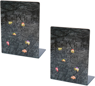 Fornasetti Gerusalemme di Notte Bookends