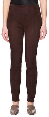 The Row Cosso Skinny Suede Pants