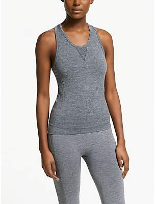 182ceb6f34d8aa PATTERNITY + John Lewis Seam Free Textured Vest Top, Grey