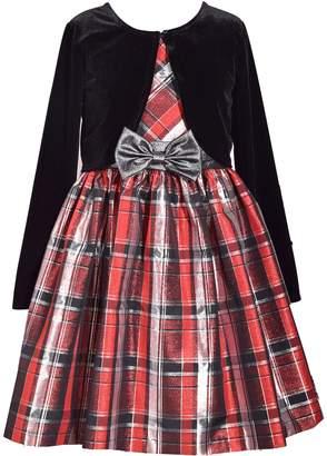 40aea351 Bonnie Jean Girls 7-16 & Plus Size Plaid Sleeveless Dress & Cardigan Set