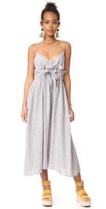 Mara Hoffman Paper Bag Waist Midi Dress $350 thestylecure.com