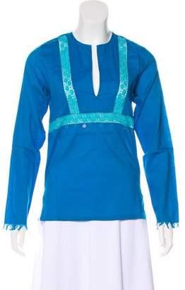 Antik Batik Embellished Macramé-Trimmed Tunic w/ Tags