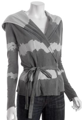 Young Fabulous & Broke dark grey tie-dye 'Angel' wrap hoodie