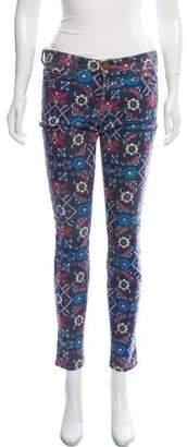 Current/Elliott Mid-Rise Floral Skinny Jeans