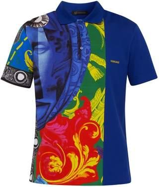 Versace Magna Grecia Cotton Polo Shirt - Mens - Multi