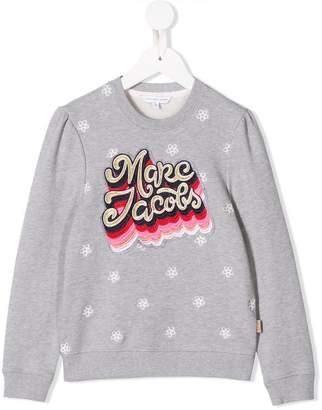 Little Marc Jacobs logo embroidered jumper