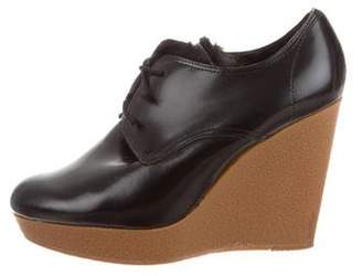 3.1 Phillip Lim Shearling-Lined Oxford Wedges