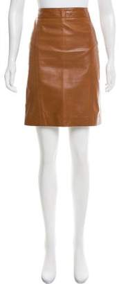 Valentino Leather Knee-Length Skirt