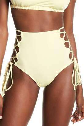 HAH   Hot-As-Hell High Waist Side Lace-Up Bikini Bottoms