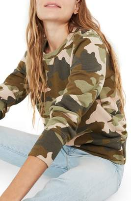 Madewell Camo Crewneck Sweatshirt