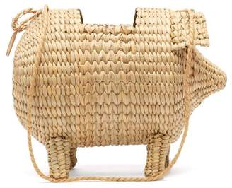 Cult Gaia The Babe Bamboo Cross Body Bag - Womens - Light Brown