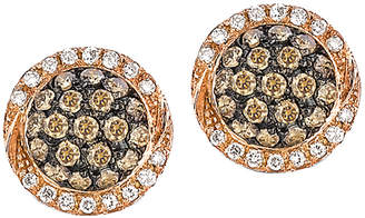 LeVian Le Vian Chocolatier 14K Rose Gold 0.46 Ct. Tw. Diamond Earrings