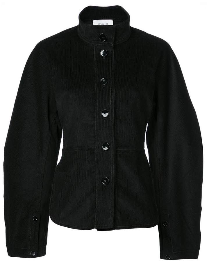 high neck buttoned jacket