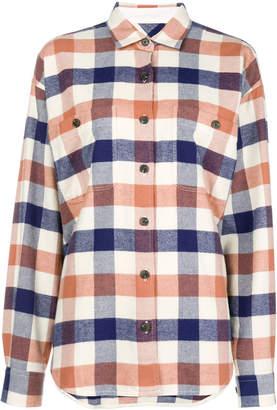 Closed check long-sleeve shirt