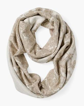 Chico's Chicos Reversible Neutral-Printed Infinity Scarf