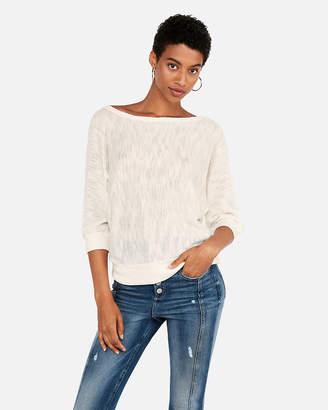 Express Off The Shoulder Dolman Pullover Sweatshirt