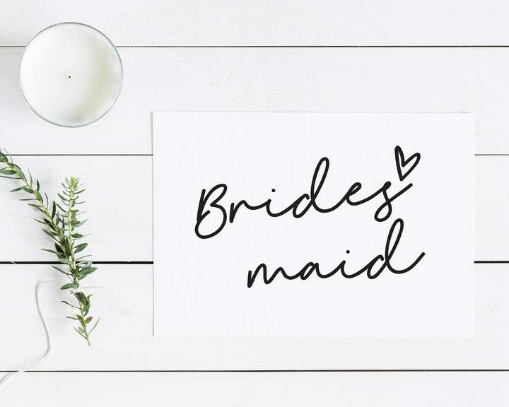 Etsy Wedding Card - Bridesmaid Notecard - Gift for Her - Maid of Honour - Bridesmaid Proposal - Thank you