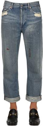 Gucci Washed Denim Jeans With Patches
